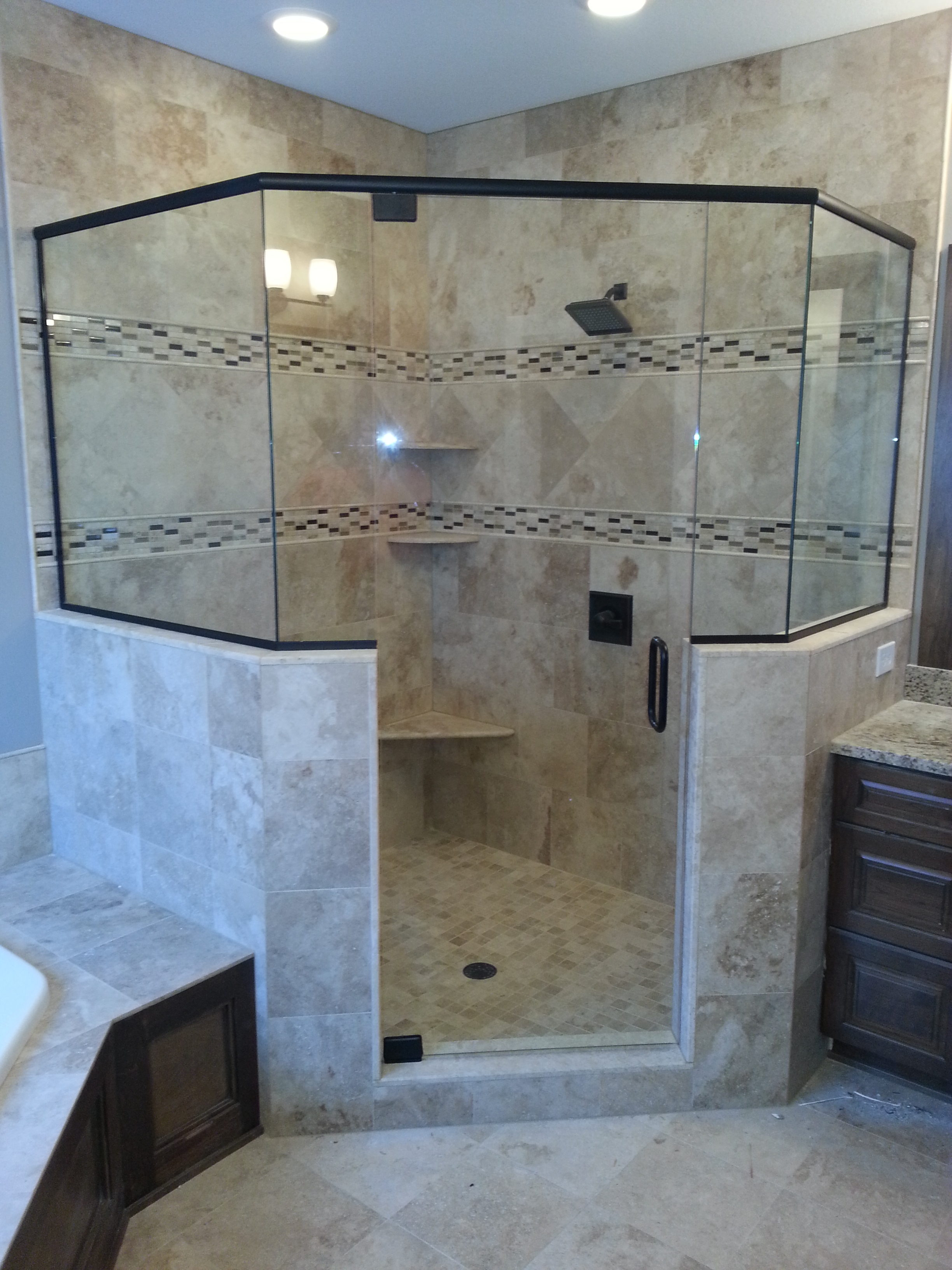 Frameless Shower Doors Sassman Glass And Mirror