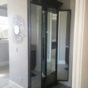 mirrors installed on the back of cabinet doors in west des moines