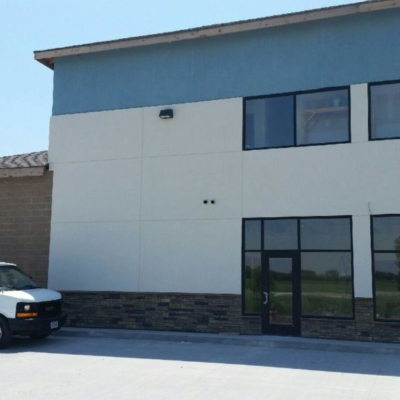 Sassman Glass commercial windows and doors dark bronze with door closers Low E glass