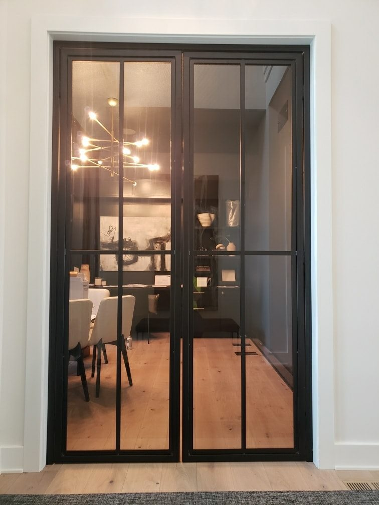 Interior French Doors with Gridscape pattern