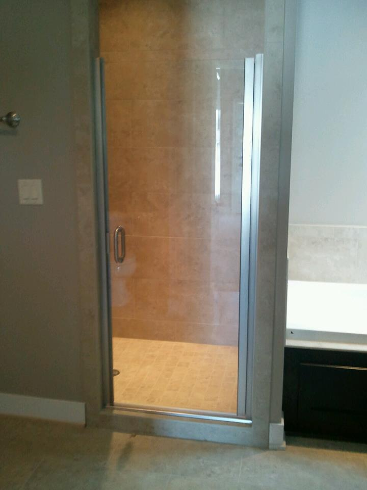 single shower door brushed nickel hardware c pull handle clear glass