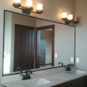 wrapped frame mirrors with metal trim oil rubbed bronze for an upgraded look