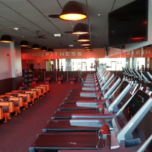Gym mirrors installed for orange theory fitness in ankeny iowa