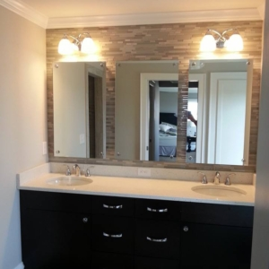 mirrors installed with chrome standoffs in altoona