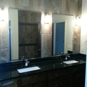 vanity with dual sinks with individual mirror of each sink
