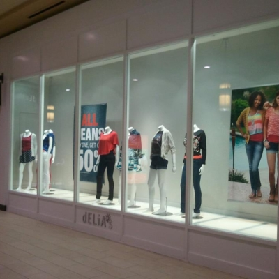 store front, jordan creek mall front commercial glass, des moines